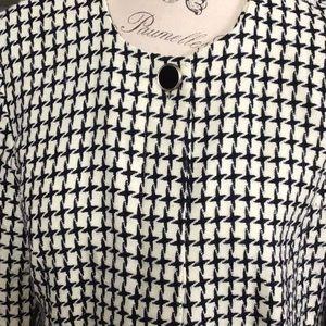 Leslie Fay Jackets & Coats - Leslie Fay houndstooth short jacket/ blazer